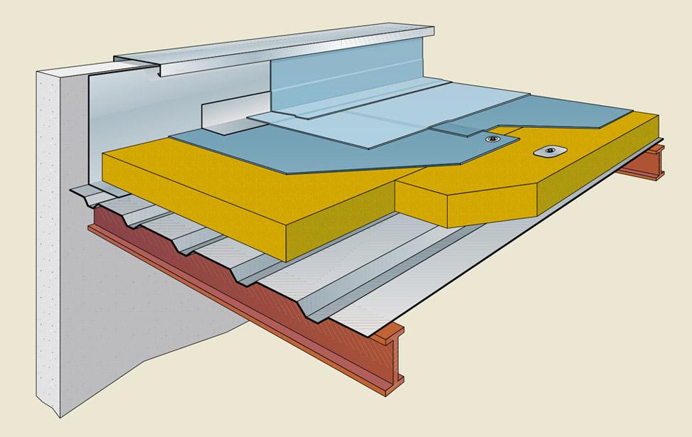 Cubiertas y l minas impermeabilizantes paneles ach for Panel de cubierta tipo sandwich