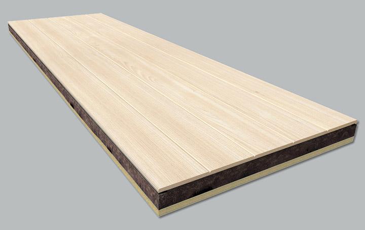 Panel s ndwich madera madera abeto natural lana de - Panel sandwich de madera ...