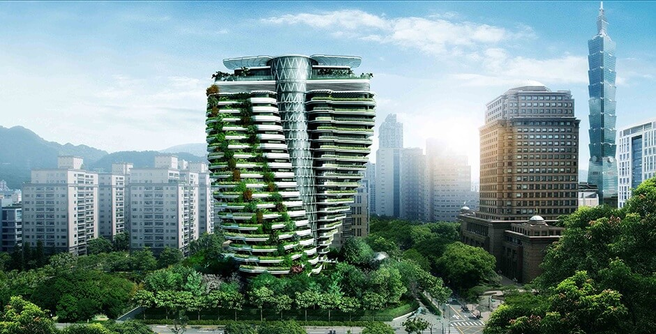 Nuevas tendencias arquitectónicas que dominarán el 2017 Torre sostenible Tao Zhu Yin Yuan.