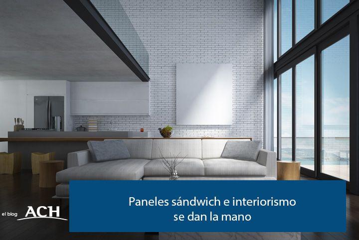 interiorismo con paneles sándwich