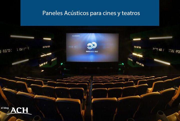 paneles acusticos en cines y teatros